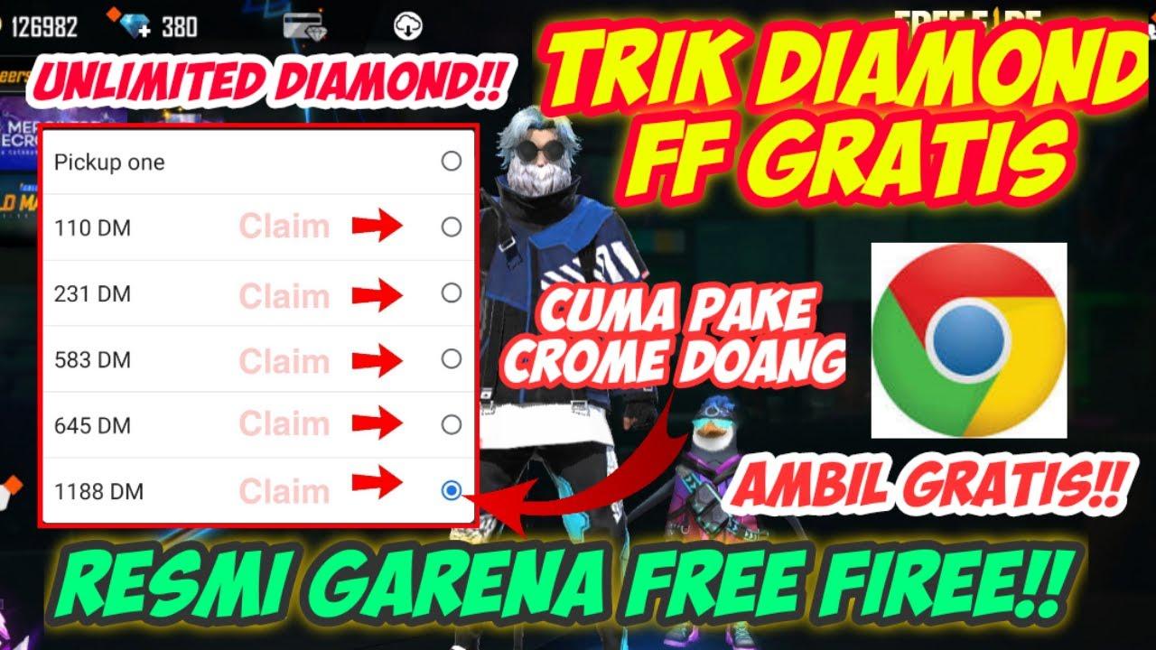 LANGSUNG CLAIM !!! CARA MENDAPATKAN 1188 DIAMOND GRATIS FREE FIRE CUMAN MODAL CHROME TERBARU 2021