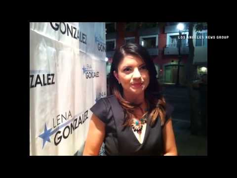 VIDEO: Long Beach 1st District City Council Lena Gonzalez, who is leading tonight in early returns.