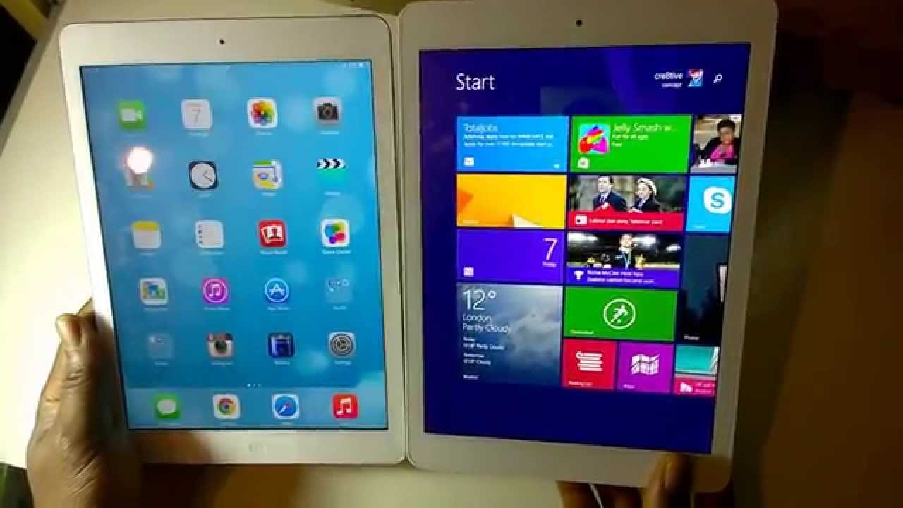 i pad vs window tablet Will the surface go provide that much-needed action in the tablet space find  out how it compares to the apple ipad 2018 microsoft.