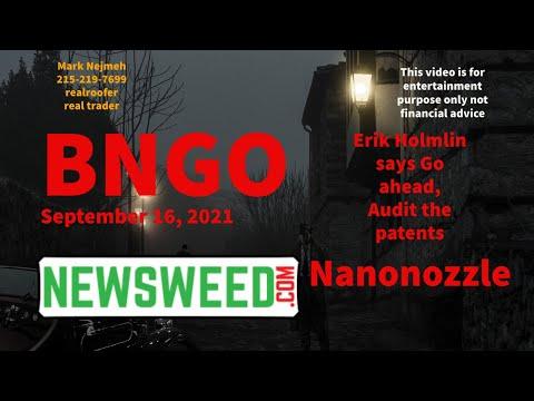 BNGO Pattents Bionano Genomics Eirk Holmlin September 16 2021