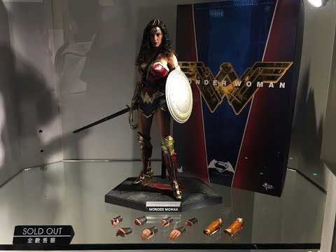 WONDER WOMAN from BvS by Hot Toys on display at Secret Base HK