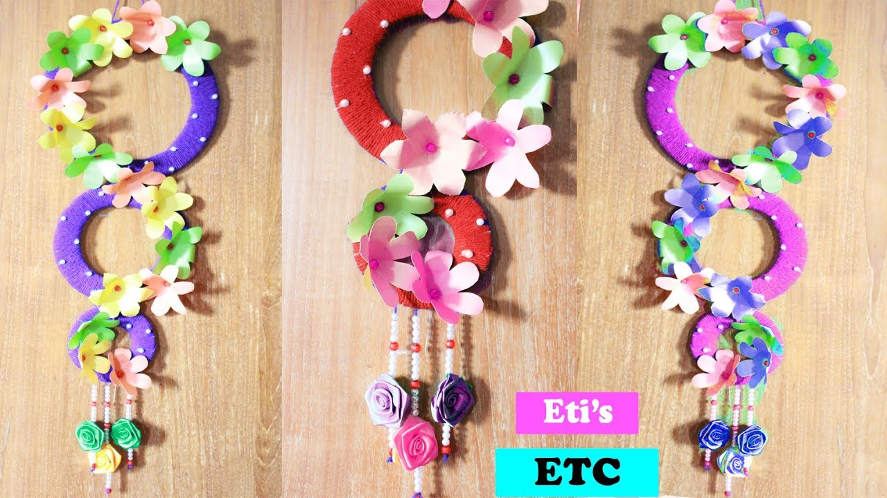 Diy Wall Hanging Home Decoration Idea Make Flower Wall Hanging