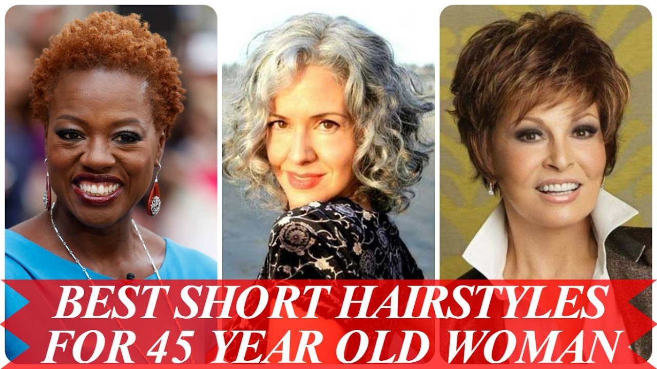 best short hairstyles for 45 year old woman - youtube