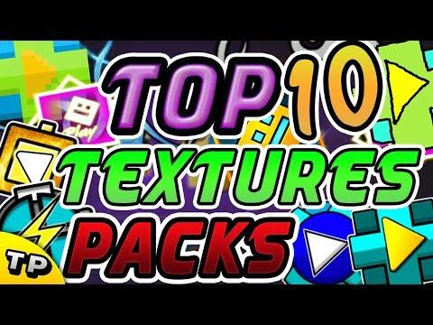 ¡TOP 10 TEXTURES PACKS MAS ÉPICOS PARA GEOMETRY DASH 2.11! | LOS MEJORES #3 - Raxter