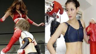 日本美女模特轉行玩摔角被讚日版林志玲赤井沙希,1987年1月24日出生於大...