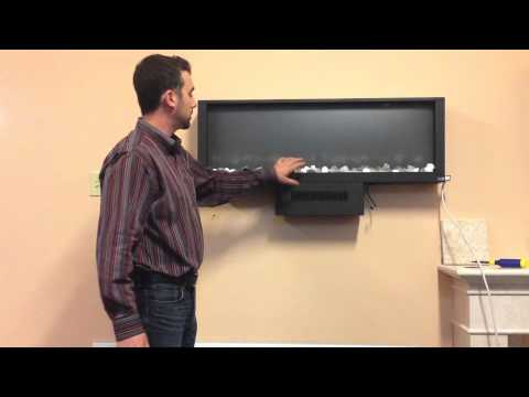 How to Install A Dynasty Wall Mount Fireplace - YouTube
