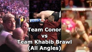 Conor McGregor vs Khabib Nurmagomedov UFC 229 Brawl (From All …