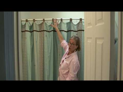 Interior Decorating Ideas : How High to Hang a Shower Curtain