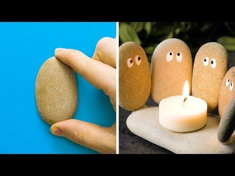 Как сделать поделку из камней