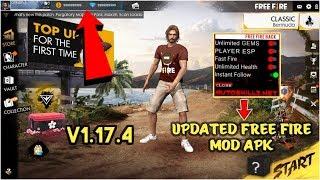 تحميل لعبة 🔥FREE FIRE MOD apk v1.17.4 🔥 مهكرة كلشي ⚡ بدون روت 『 NEW UPDATE』
