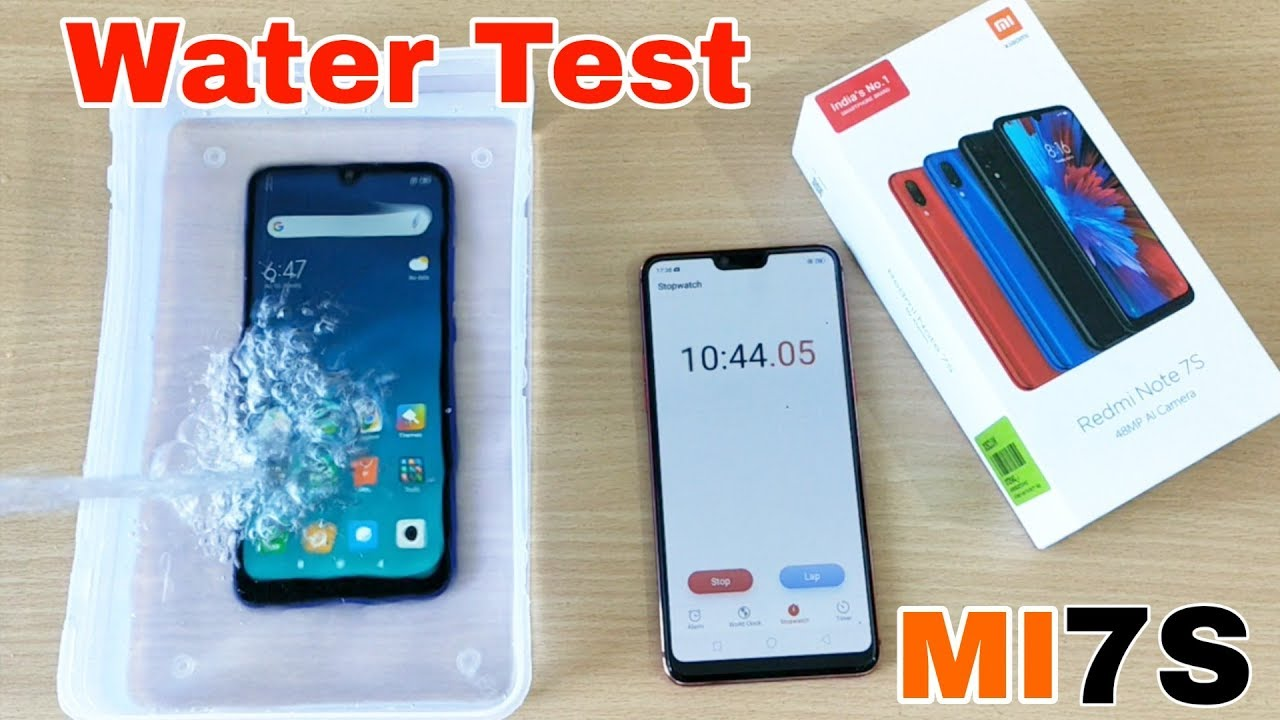 Redmi Note 7S Water Test | 10 Minutes into Water | Durability Test |  Waterproof Result ??? 😱😱😱