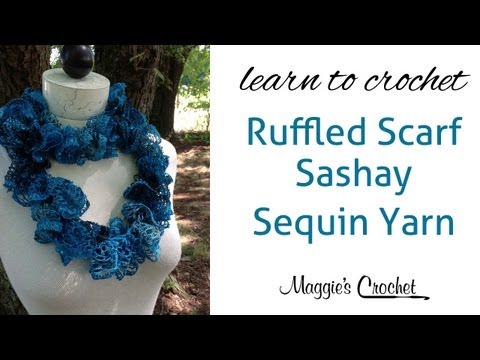 Sashay Sequin Ruffle Scarf Learn Crochet With Maggie Weldon