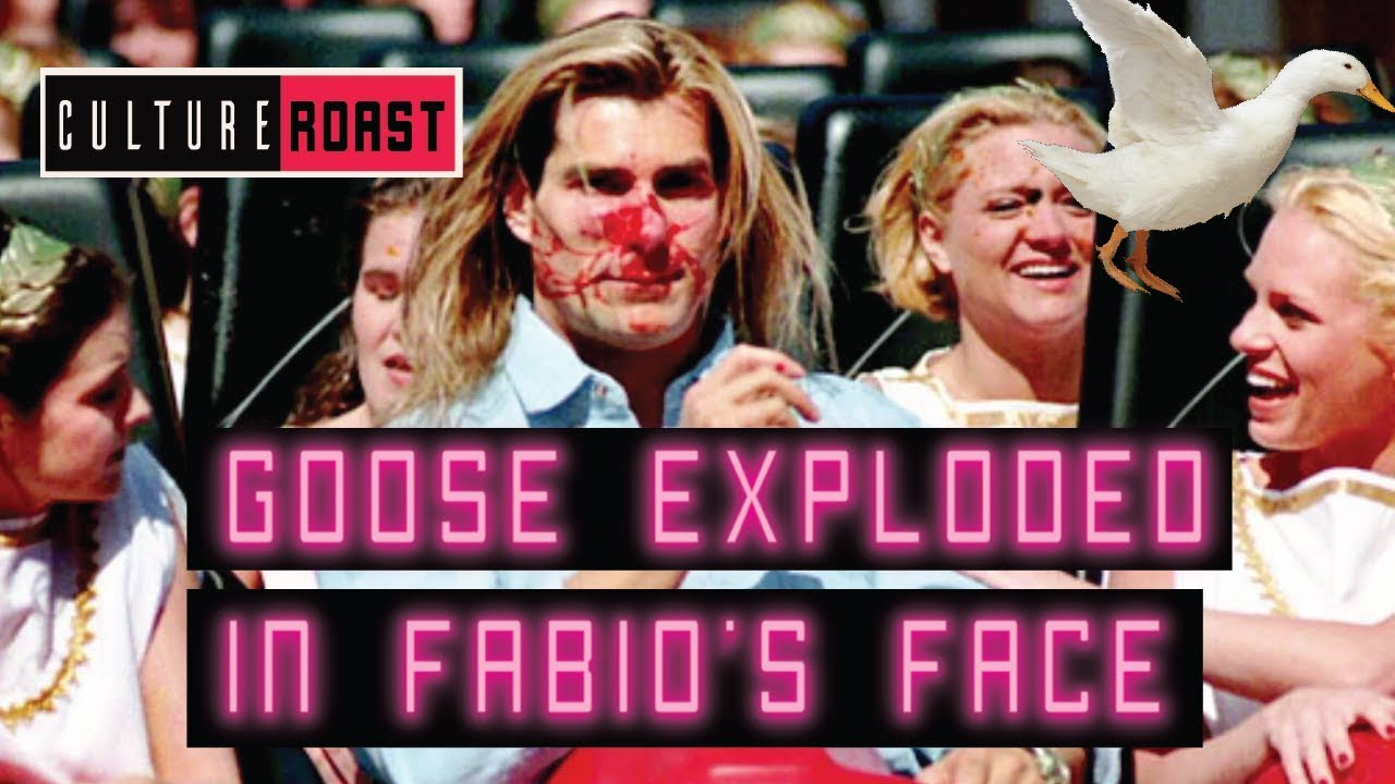 Fabio hit by goose