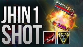 JHIN 1 SHOT BUILD ( 2000+ IN 1 SHOT ) [ League of legends ]