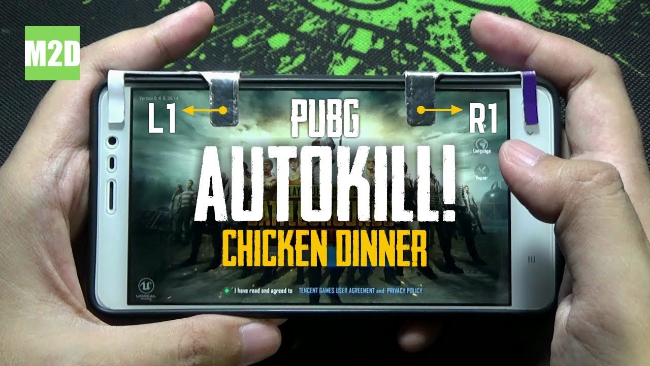 Main Pubg Mobile Dengan Tombol L1 R1 Diy Auto Winner Winner Chicken Dinner Youtube