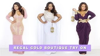 Plus size | Curvy Girl Regal Gold Boutique Try On Haul | Edee Beau
