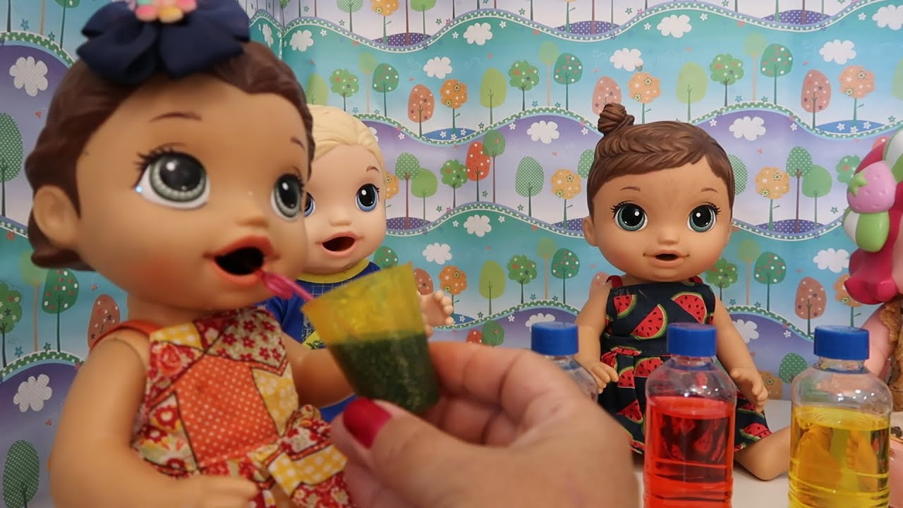 Refrigerante para Bonecas Baby Alive Amandinha Mel Lilo Comidinha para Bonecas