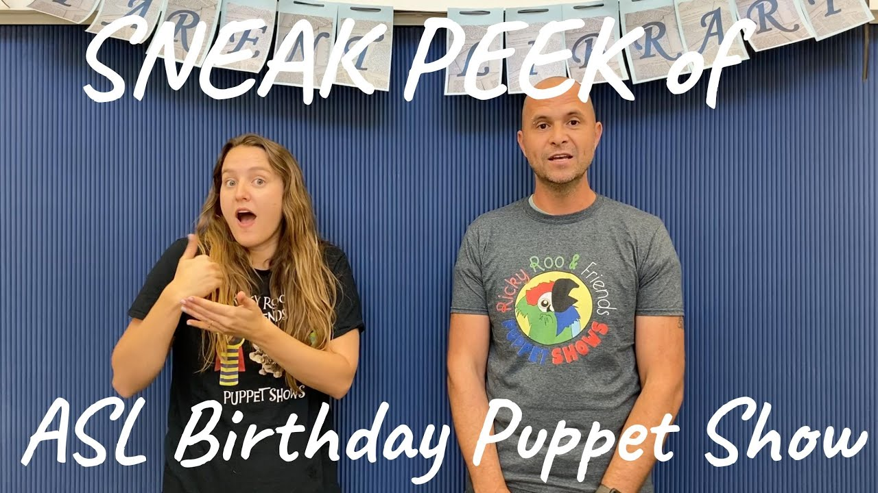 Virtual Birthday Party Sign Happy Birthday Silly Puppet Show For Children Video Youtube