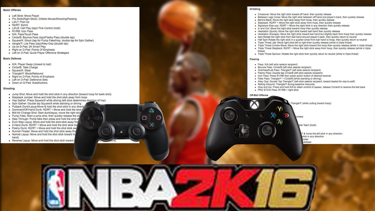 Nba 2k16 official controls youtube ccuart Image collections