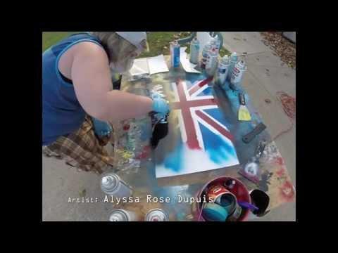Sherlock Union Jack Spray Paint Art – Alyssa Rose Dupuis Original