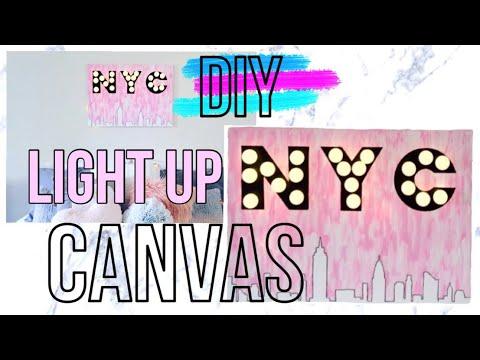 DIY NYC Light Up Canvas