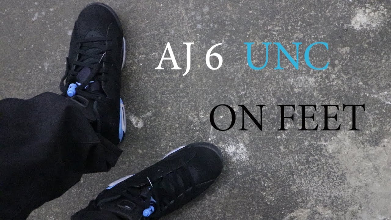6046bcb875dedb AIR JORDAN 6 UNC   ON FEET 🔥🔥🔥 - YouTube