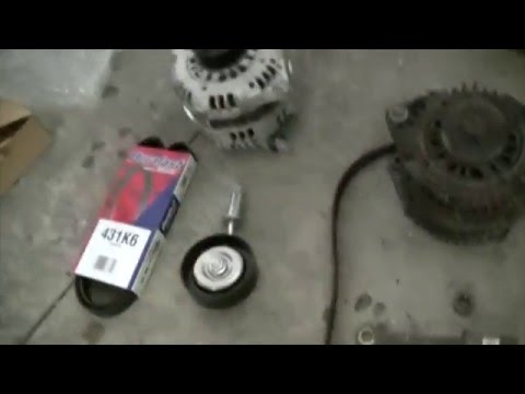2002 Nissan Maxima: How to replace the Alternator, Idle Pulley, Drive and Serpentine Belts 2/2
