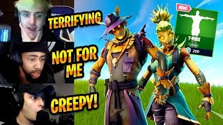 STREAMERS REACT TO *NEW* HAY MAN, STRAW OPS (SCARECROW) SKINS & T-POSE EMOTE - Fortnite Best Moments