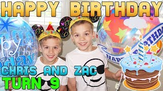 HAPPY BIRTHDAY!!  Twins Chris & Zac Turn 9!