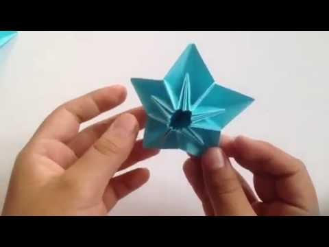 Origami Star Flower Youtube
