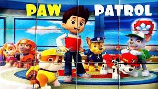 Щенячий Патруль Райдер и его щенки - собираем кубики пазлы для детей с героями мультика PAW Patrol