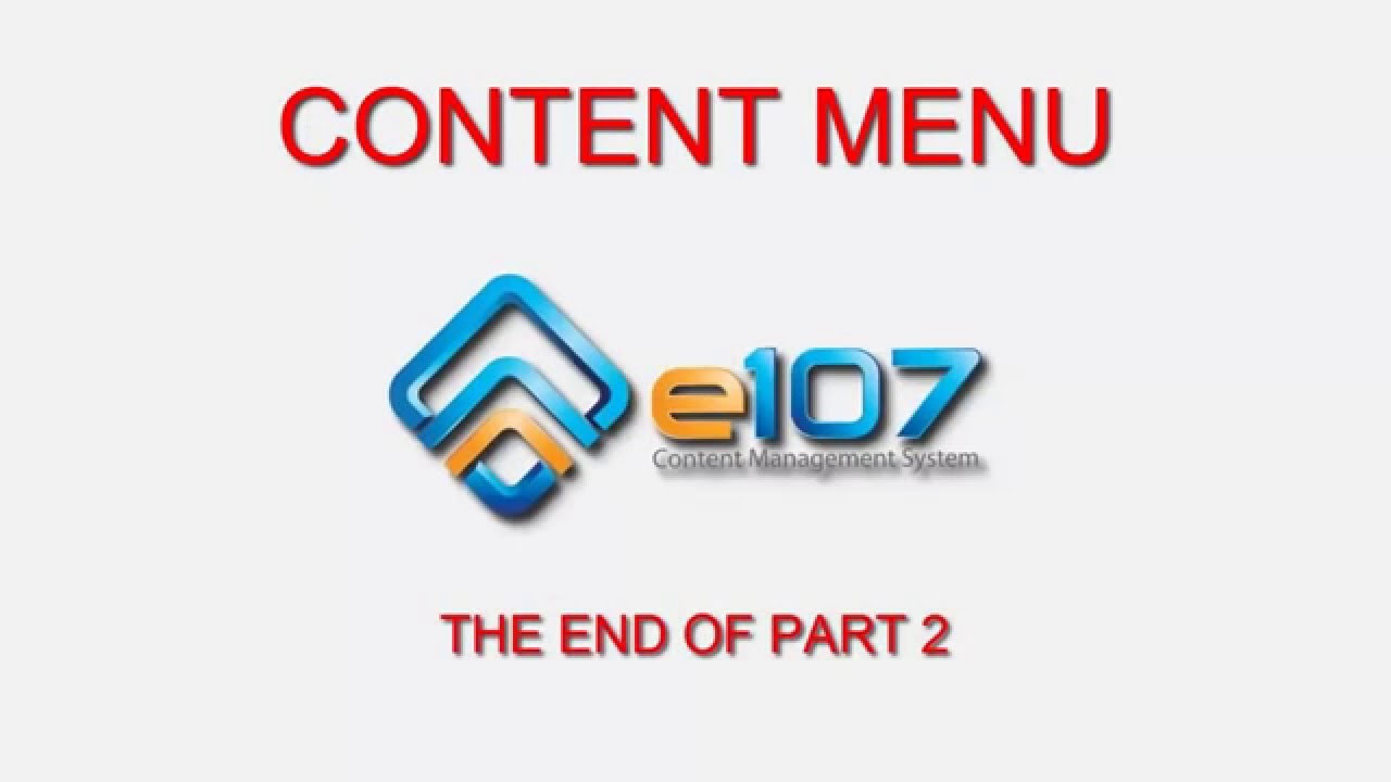 Content Menu: advanced commands #11 e107 tutorial for beginners