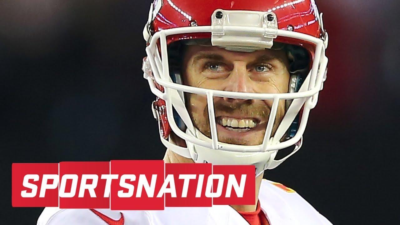 SportsNation praises Alex Smith's performance vs. Patriots | SportsNation | ESPN