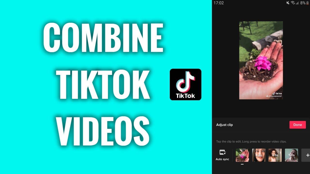 How To Combine Videos On Tiktok Youtube