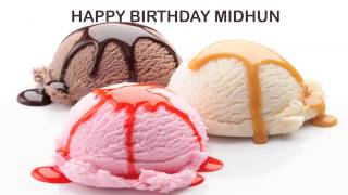 Midhun   Ice Cream & Helados y Nieves - Happy Birthday