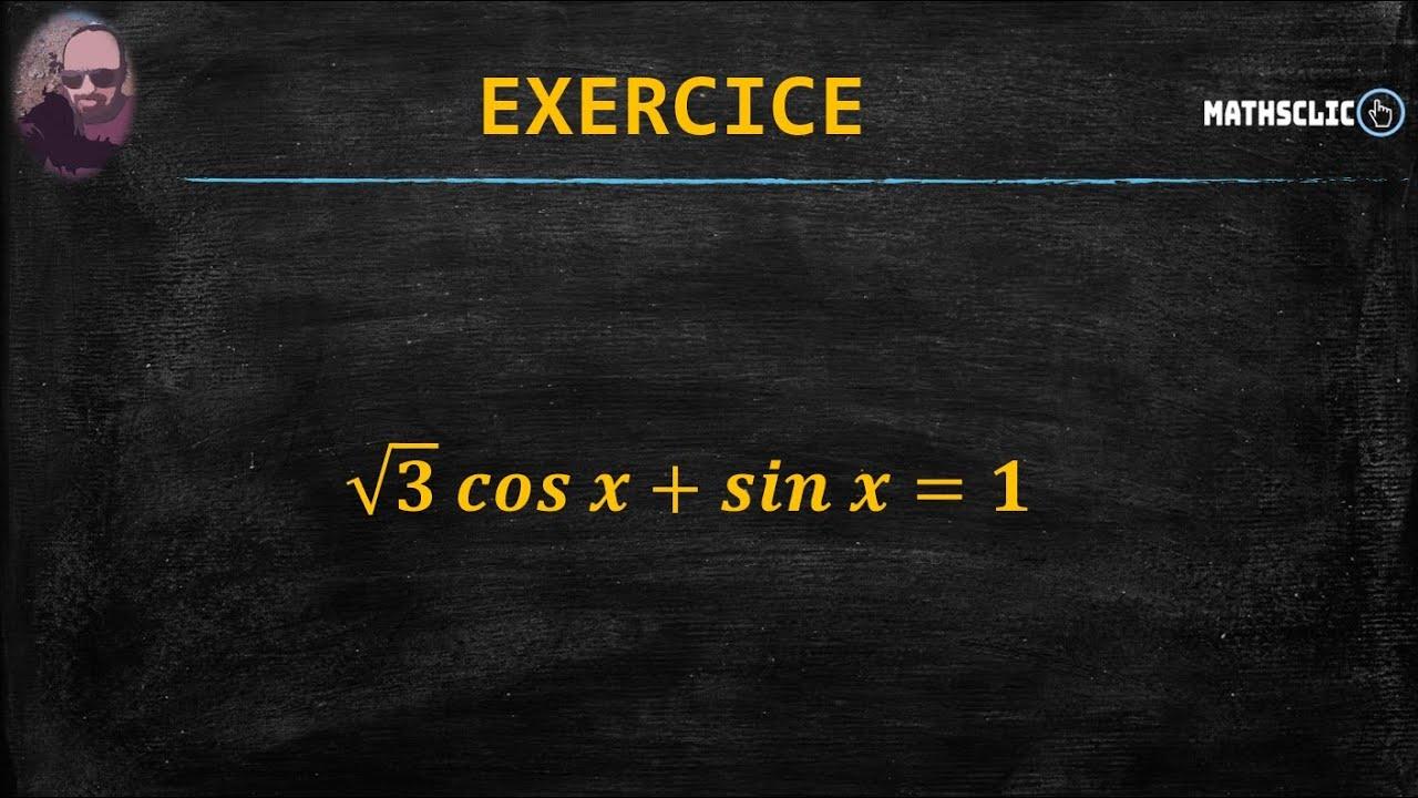 MATHSCLIC EXERCICES : EXERCICE DE TRIGONOMÉTRIE - 1BAC ...