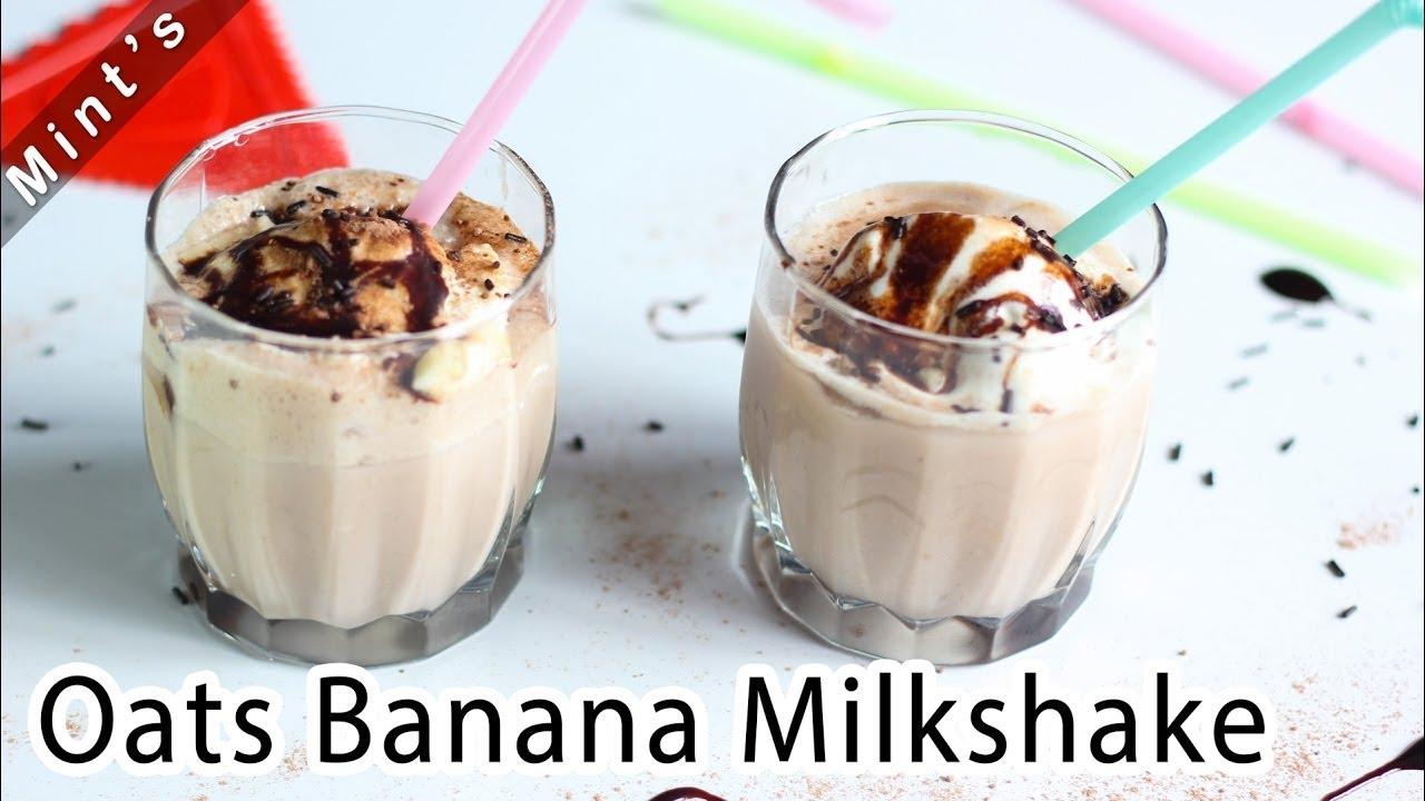 Chocolate Banana Milkshake Hindi Recipe