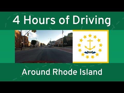 4 Hours of Driving Around Rhode Island (No Audio) | RhodeWays