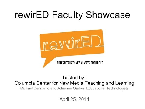 "EVENT | RewirED Series: Faculty Showcase,"" April 25, 2014"