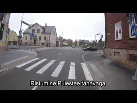 Tartus Raekoja platsilt mööda Roosi tänavat Eesti Rahva Muuseumini