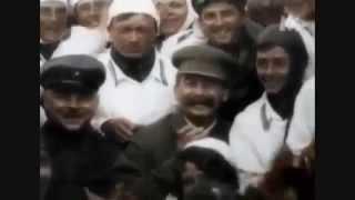 Сталин в цвете. Редкие кадры.