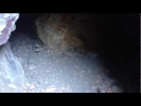 Hiking Bonita Falls San Bernardino National Forest near Rancho Cucamonga Inside the first cave
