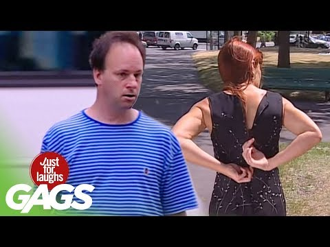 Stuck Dress Zipper Prank - Just For Laughs Gags