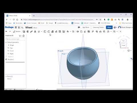 Modelling a cup in Onshape