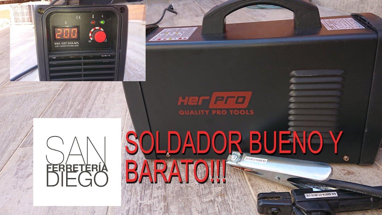 Soldador MMA HerPRO IGBT 200 60% Buen Soldado a buen precio!!
