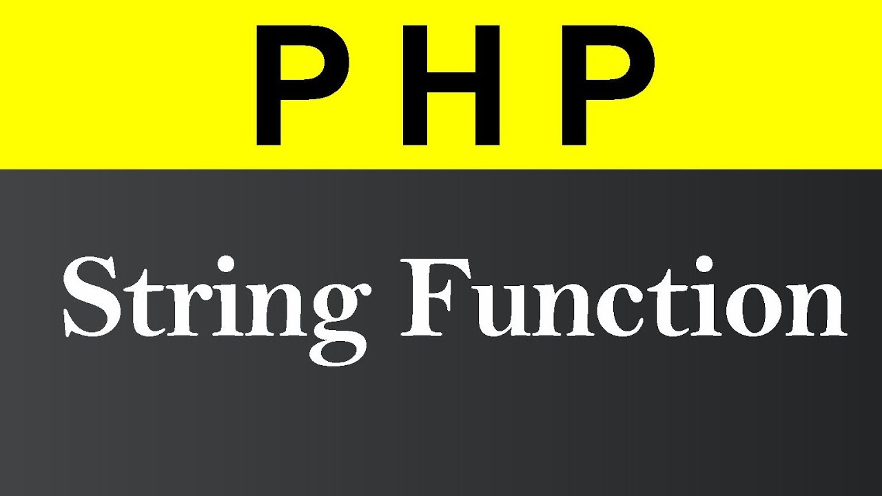String Functions in PHP (Hindi)