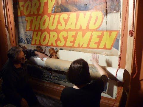 Preserving a rare 1941 film poster - 40,000 Horsemen