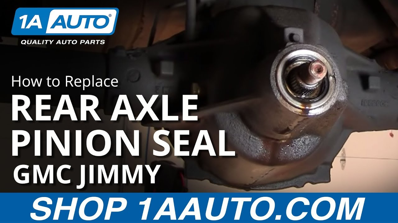 medium resolution of how to install replace rear axle differential pinion seal buy quality auto parts at 1aauto com youtube