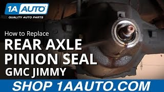 How To Install Replace Rear Axle Differential Pinion Seal 84-91 GMC Jimmy