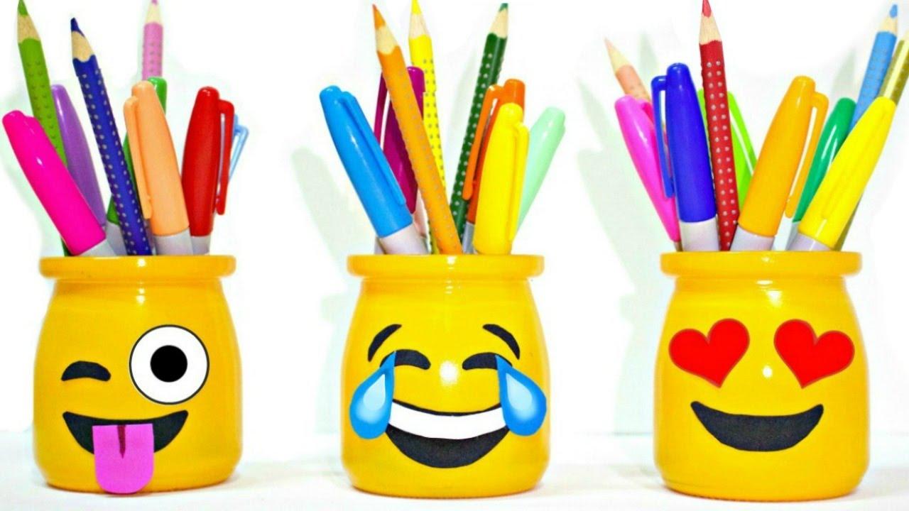 DIY SCHOOL SUPPLIES for Back to School | Easy & Cute EMOJI PENCIL HOLDERS -  YouTube
